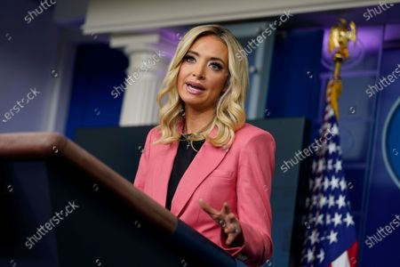 White House press secretary Kayleigh McEnany speaks during a press briefing at the White House, in Washington