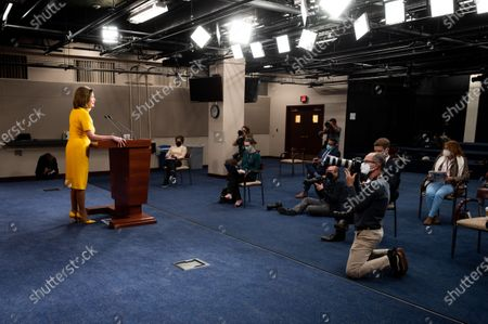House Speaker, Nancy Pelosi (D-CA) speaking during her weekly press conference at the U.S.Capitol.