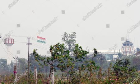 Trees sway due heavy gusts brought about by Cyclone Amphan, at Birsa Munda airport on May 20, 2020 in Ranchi, India. Super Cyclone Amphan made landfall at 2.30 pm. Over five lakh people have been evacuated in West Bengal while over 1.58 lakh have been taken to safety in Odisha.