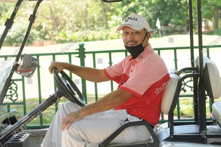 Jeev Milkha Singh at Chandigarh Golf Club that has opened following relaxations in lockdown on May 20, 2020 in Chandigarh, India.
