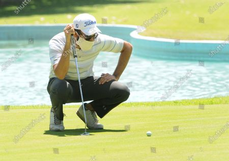 Professional golfer Rohan Kathuria during a nine-hole round at Chandigarh Golf Club that has opened following relaxations in lockdown on May 20, 2020 in Chandigarh, India.
