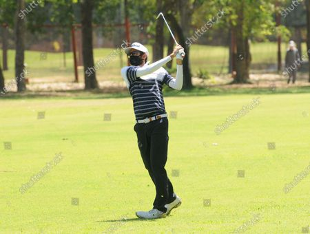 Professional golfer Karandeep Kochhar during a nine-hole round at Chandigarh Golf Club that has opened following relaxations in lockdown on May 20, 2020 in Chandigarh, India.