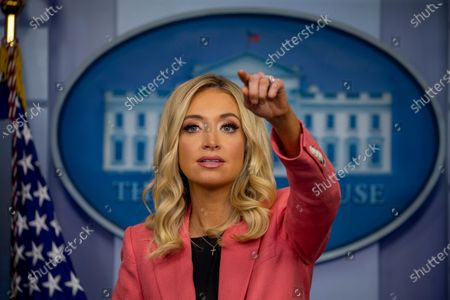 Press Secretary Kayleigh McEnany takes questions from the press during a press briefing in the James S. Brady Briefing Room of the White House in Washington, DC, USA, 20 May 2020.