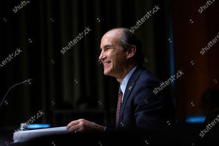 Stock Photo of Mark Menezes testifies before the U.S. Senate Committee on Energy and Natural Resources on Capitol Hill in Washington D.C., U.S., as they consider his nomination to be Deputy Secretary of the U.S. Department of Energy.
