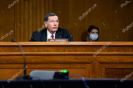United States Senator John Barrasso (Republican of Wyoming) speaks during the U.S. Senate Committee on Energy and Natural Resources hearing on Capitol Hill in Washington D.C., U.S., as they consider the nomination of Mark Menezes to be Deputy Secretary of the U.S. Department of Energy.