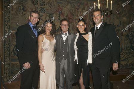 Greg Rusedski, Lucy Rusedski, Cliff Richard, Annabel Croft with friend