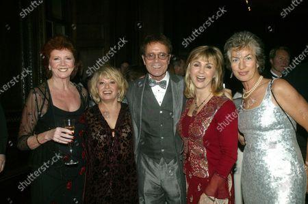 Cilla Black, Elaine Page, Lesley Garrett, Cliff Richard, and Virginia Wade