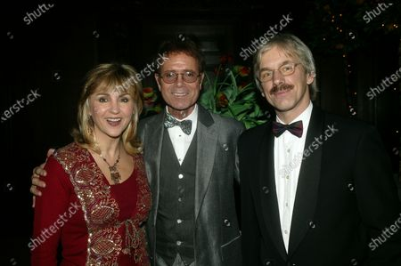 Stock Photo of Cliff Richard with Lesley and husband Peter Garrett