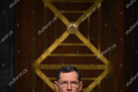 "United States Senator John Barrasso (Republican of Wyoming) listens to opening remarks at a hearing titled ""Oversight of the Environmental Protection Agency"" in the Dirksen Senate Office Building in Washington, DC. Andrew Wheeler, Administrator, United States Environmental Protection Agency (EPA) will be asked about the rollback of regulations by the Environment Protection Agency since the pandemic started in March."