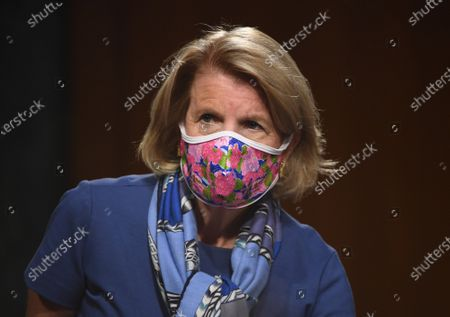 "United States Senator Shelley Moore Capito (Republican of West Virginia) attends a hearing titled ""Oversight of the Environmental Protection Agency"" before the US Senate Environment and Public Works Committee in the Dirksen Senate Office Building in Washington, DC. EPA Administrator Andrew Wheeler will be asked about the rollback of regulations by the Environment Protection Agency since the pandemic started in March."