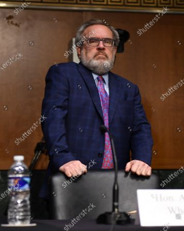 "Andrew Wheeler, Administrator, United States Environmental Protection Agency (EPA) arrives at a hearing titled ""Oversight of the Environmental Protection Agency"" in the Dirksen Senate Office Building in Washington, DC."