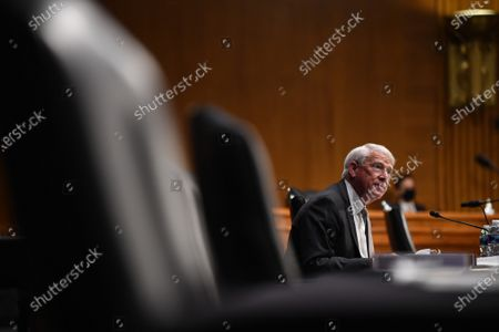 "United States Senator Roger Wicker (Republican of Mississippi) speaks at a hearing titled ""Oversight of the Environmental Protection Agency"" before the US Senate Environment and Public Works Committee in the Dirksen Senate Office Building in Washington, DC. EPA Administrator Andrew Wheeler will be asked about the rollback of regulations by the Environment Protection Agency since the pandemic started in March."