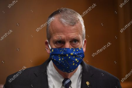 "United States Senator Dan Sullivan (Republican of Alaska) attends a hearing titled ""Oversight of the Environmental Protection Agency"" before the US Senate Environment and Public Works Committee in the Dirksen Senate Office Building in Washington, DC. EPA Administrator Andrew Wheeler will be asked about the rollback of regulations by the Environment Protection Agency since the pandemic started in March."