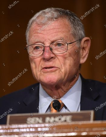 "United States Senator Jim Inhofe (Republican of Oklahoma) delivers opening remarks at a hearing titled ""Oversight of the Environmental Protection Agency"" in the Dirksen Senate Office Building in Washington, DC. Andrew Wheeler, Administrator, United States Environmental Protection Agency (EPA) will be asked about the rollback of regulations by the Environment Protection Agency since the pandemic started in March."