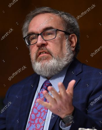 "Andrew Wheeler, Administrator, United States Environmental Protection Agency (EPA) testifies at a hearing titled ""Oversight of the Environmental Protection Agency"" before the US Senate Environment and Public Works Committee in the Dirksen Senate Office Building in Washington, DC. Wheeler will be asked about the rollback of regulations by the Environment Protection Agency since the pandemic started in March."