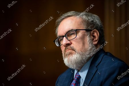 Andrew Wheeler, Administrator, United States Environmental Protection Agency (EPA), listens during a US Senate Environment and Public Works Committee hearing, on Capitol Hill in Washington, D.C., U.S.,.