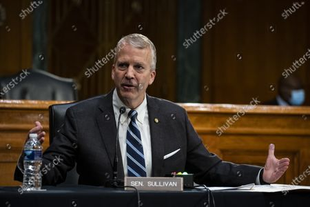 United States Senator Dan Sullivan (Republican of Alaska), speaks during a US Senate Environment and Public Works Committee hearing with Andrew Wheeler, administrator of the Environmental Protection Agency (EPA), not pictured, on Capitol Hill in Washington, D.C., U.S.,.