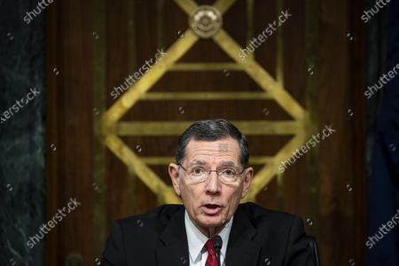 United States Senator John Barrasso (Republican of Wyoming), chairman, US Senate Environment and Public Works Committee, makes a statement during a hearing, on Capitol Hill in Washington, D.C., U.S.,.