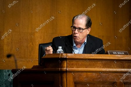 United States Senator Mike Braun (Republican of Indiana), speaks during a US Senate Environment and Public Works Committee hearing with Andrew Wheeler, administrator of the Environmental Protection Agency (EPA), not pictured, on Capitol Hill in Washington, D.C., U.S.,.
