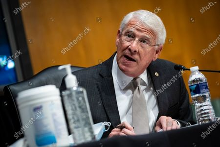 United States Senator Roger Wicker (Republican of Mississippi), speaks during a US Senate Environment and Public Works Committee hearing with Andrew Wheeler, administrator of the Environmental Protection Agency (EPA), not pictured, on Capitol Hill in Washington, D.C., U.S.,.