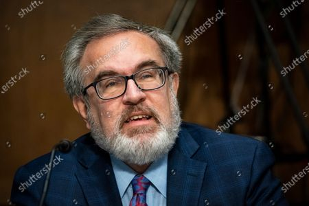 Andrew Wheeler, Administrator, United States Environmental Protection Agency (EPA), speaks during a Senate Environment and Public Works Committee hearing, on Capitol Hill in Washington, D.C., U.S.,.