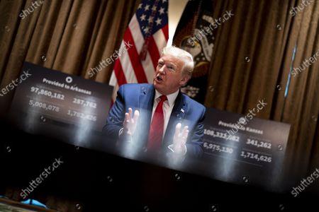 Editorial image of Trump Meets Governors Hutchinson and Kelly, Washington, District of Columbia, USA - 20 May 2020