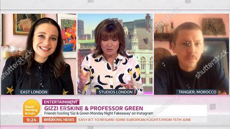 Gizzi Erskine, Lorraine Kelly, Professor Green
