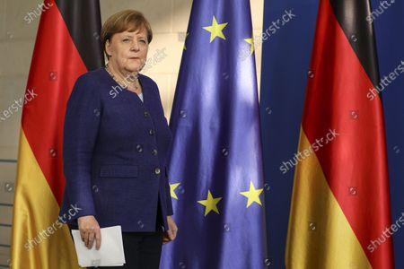 Editorial image of German Chancellor Angela Merkel press conference, Berlin, Germany - 20 May 2020