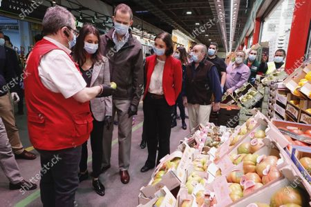 Editorial picture of Spanish Royals visit to Mercamadrid market, Madrid, Spain - 21 May 2020