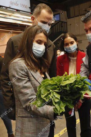 Editorial photo of Spanish Royals visit to Mercamadrid market, Madrid, Spain - 21 May 2020