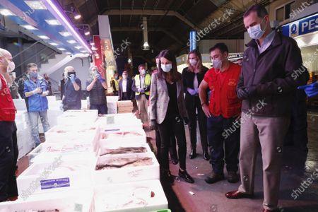 King Felipe VI, Queen Letizia visit Mercamadrid, the biggest market in Spain