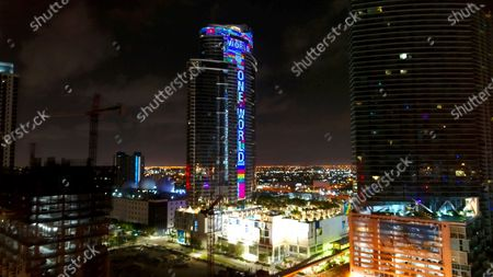 "On the 39th observance of the funeral of reggae music legend Bob Marley, his moniker band, The Wailers, debuts the global unity anthem, ""One World, One Prayer,"" with a musical tower lighting salute to COVID-19 heroes at the new, 700-foot, $600-million Paramount Miami Worldcenter in downtown Miami on . ""One World, One Prayer,"" was written and produced by 19-time Grammy Award winner Emilio Estefan. To celebrate the premiere, the 60-story, futuristic one-of-a-kind superstructure's 14,000 light-emitting diode animation system is glowing with a gigantic ticker-tape-style read-out of the song's title along with the world's largest electronic mosaic of flags from around the globe. Marley was buried in Jamaica on May 21, 1981. He would have been 75"