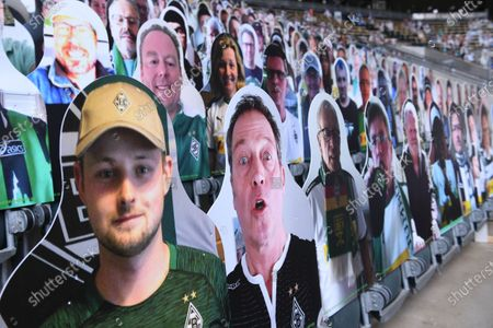 Editorial image of Cardboard cut-outs instead of fans, Borussia-Park, Moenchengladbach, Germany - 20 May 2020