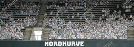 Editorial photo of Cardboard cut-outs instead of fans, Borussia-Park, Moenchengladbach, Germany - 20 May 2020