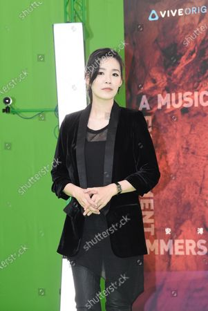 Editorial picture of Deserts Chang attends a musical experiment immersive conference to promote her new song, Taipei ,Taiwan - 18 May 2020