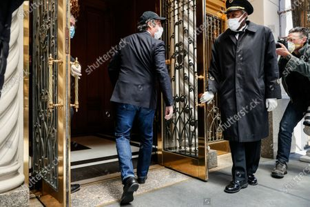 Stock Image of Michael Cohen arrives at his Manhattan apartment, in New York. President Donald Trump's longtime personal lawyer and fixer was released federal prison Thursday and is expected to serve the remainder of his sentence at home. Cohen has been serving a federal prison sentence at FCI Otisville in New York after pleading guilty to numerous charges, including campaign finance fraud and lying to Congress