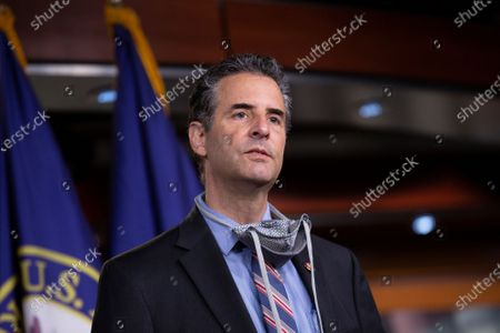 United States Representative John Sarbanes (Democrat of Maryland) speaks during a news conference with Speaker of the United States House of Representatives Nancy Pelosi (Democrat of California) regarding the vote by mail provision in the Heroes Act at the United States Capitol in Washington D.C., U.S..