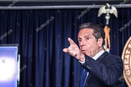 Editorial picture of Andrew Cuomo news conference, New York, USA - 21 May 2020