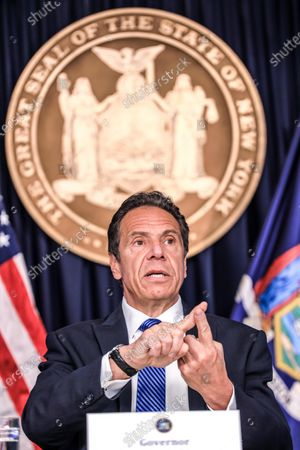 Editorial photo of Andrew Cuomo news conference, New York, USA - 21 May 2020