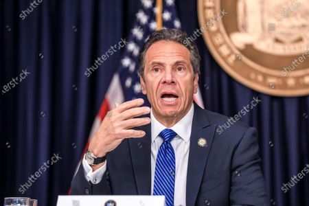 Editorial image of Andrew Cuomo news conference, New York, USA - 21 May 2020
