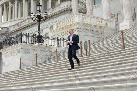 United States Senator Thom Tillis (Republican of North Carolina) leaves the United States Capitol in Washington D.C., U.S..