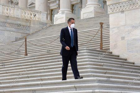 United States Senator Mitt Romney (Republican of Utah) leaves the United States Capitol in Washington D.C., U.S..