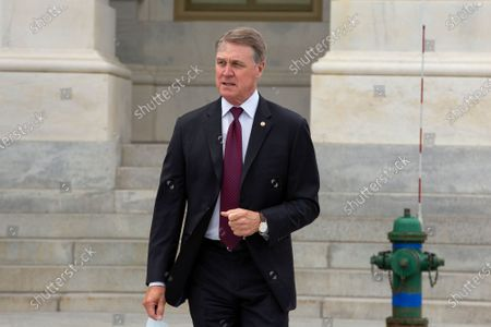 United States Senator David Perdue(Republican of Georgia) leaves the United States Capitol in Washington D.C., U.S..