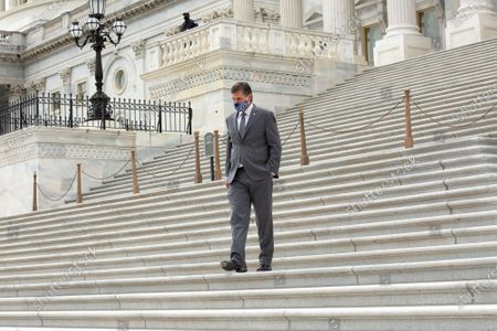 United States Senator Martin Heinrich (Democrat of New Mexico) leaves the United States Capitol in Washington D.C., U.S..