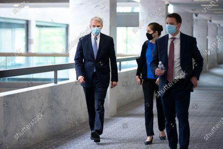 Stock Image of United States Senator Rob Portman (Republican of Ohio) walks to the GOP Policy Luncheons at the Hart Senate Office Building in Washington D.C., U.S..