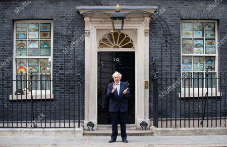 Editorial image of Boris Johnson Claps for carers., London, UK - 21 May 2020