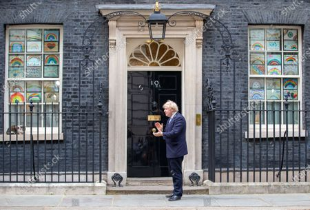 Editorial photo of Boris Johnson Claps for carers., London, UK - 21 May 2020