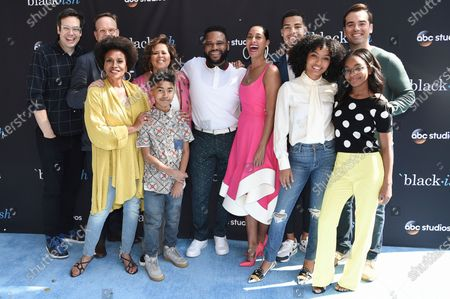 """The cast of """"black-ish"""" attends a For Your Consideration event in Burbank, Calif. Pictured from left are Nelson Franklin, Peter Mackenzie, Jenifer Lewis, Miles Brown, Anna Deavere Smith, Anthony Anderson, Tracee Ellis Ross, Marcus Scribner, Yara Shahidi, Marsai Martin and Jeff Meacham. ABC is bringing back the lion's share of its series for next season, including """"black-ish,"""" """"A Million Little Things"""" and """"The Rookie."""" Those are among the shows that will return in the 2020-21 season, the network said Thursday, adding to the list of previously announced renewals for a total so far of 19"""