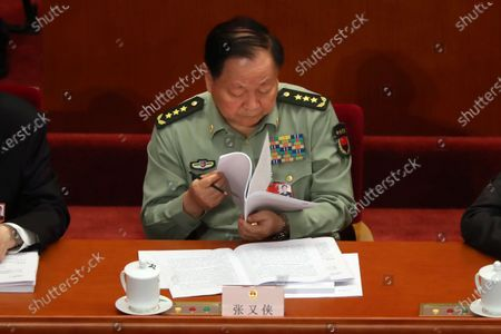 Zhang Youxia, second-ranked vice chairman of China's Central Military Commission, attends the opening session of China's National People's Congress (NPC) at the Great Hall of the People in Beijing, China, 22 May 2020. China held the Chinese People's Political Consultative Conference (CPPCC) on 21 May and will hold the National People's Congress (NPC) on 22 May, after the two major political meetings initially planned to be held in March 2020 were postponed amid the ongoing coronavirus COVID-19 pandemic.