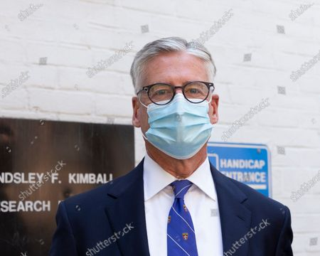 Christopher Hillyer President/CEO of New York Blood Center attends Mayor Bill de Blasio and First Lady Chirlane McCray donation of blood during COVID-19 pandemic
